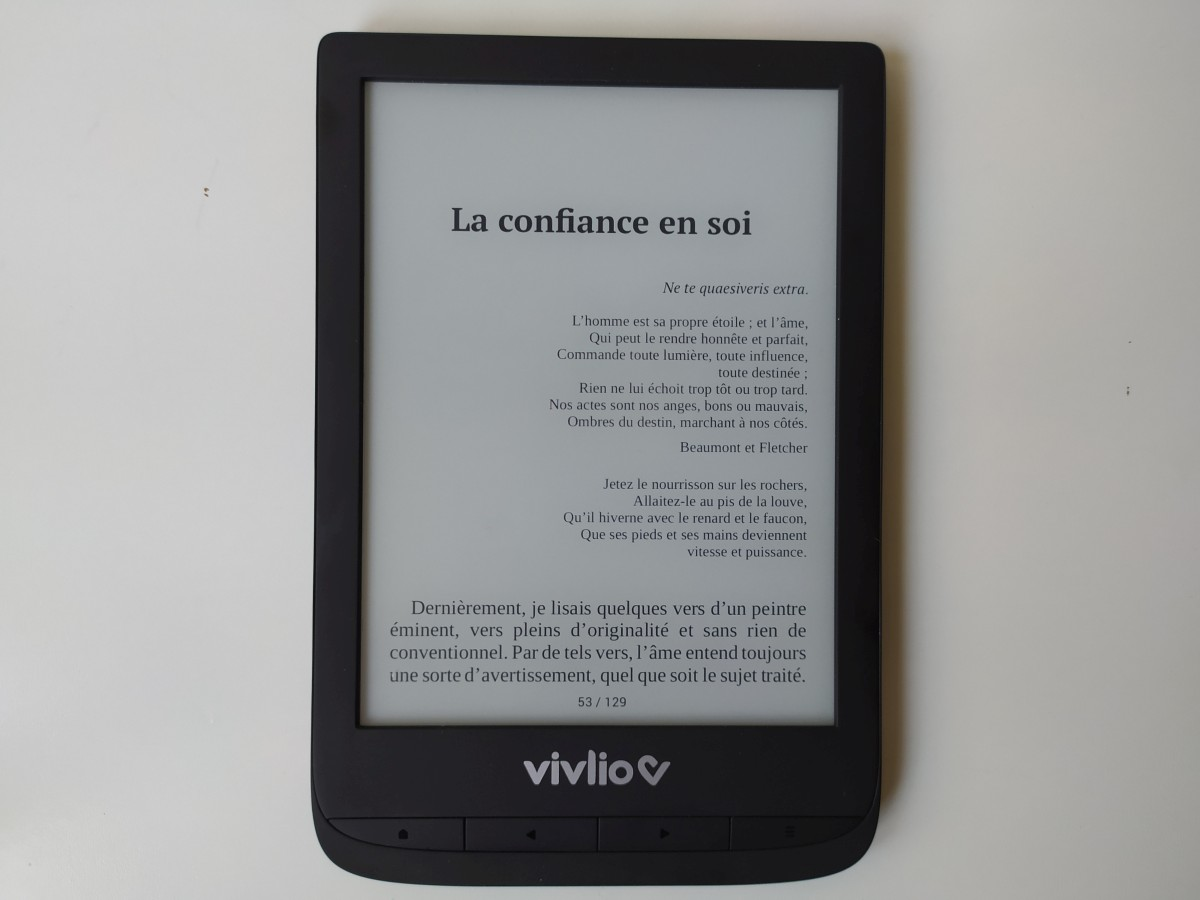 Liseuse Vivlio Touch Lux 5 test