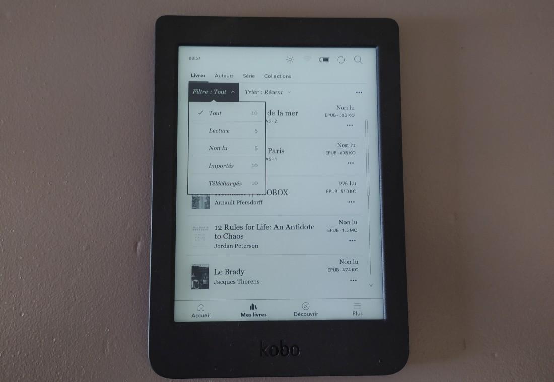 bibliothèque ebook kobo nia