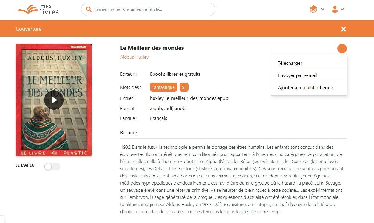 MesLivres cloud télécharger ebook