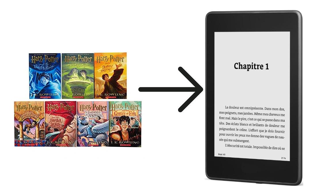 série ebook dans liseuse avec calibre