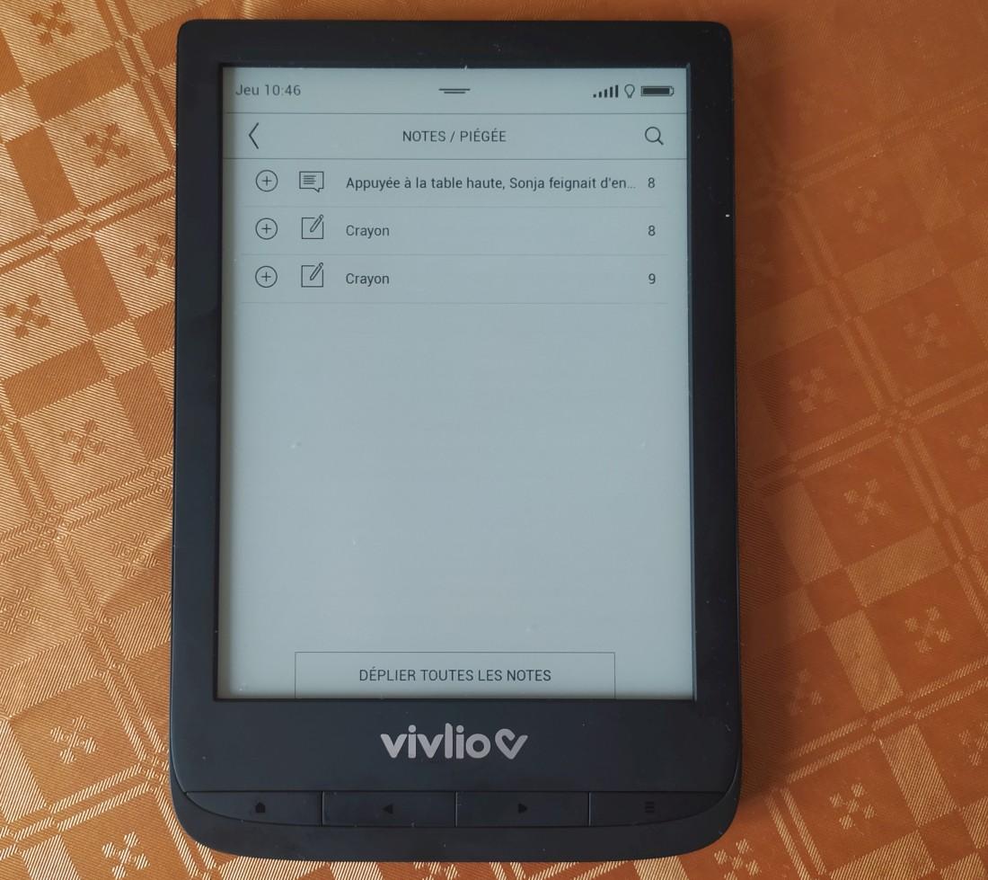 notes ebook vivlio