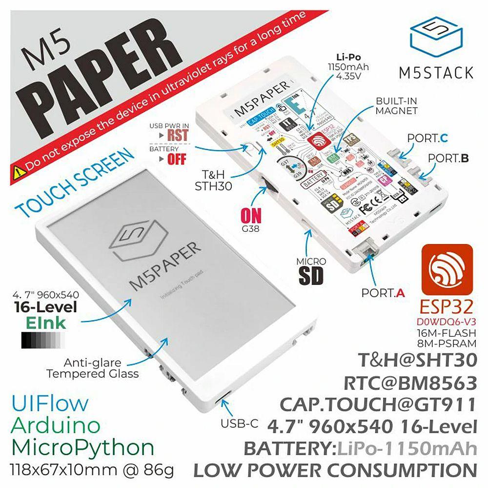 kit liseuse M5PAPER