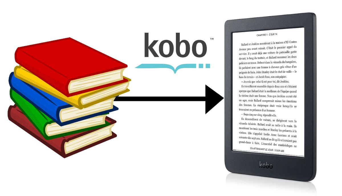 transférer un ebook epub sur liseuse kobo