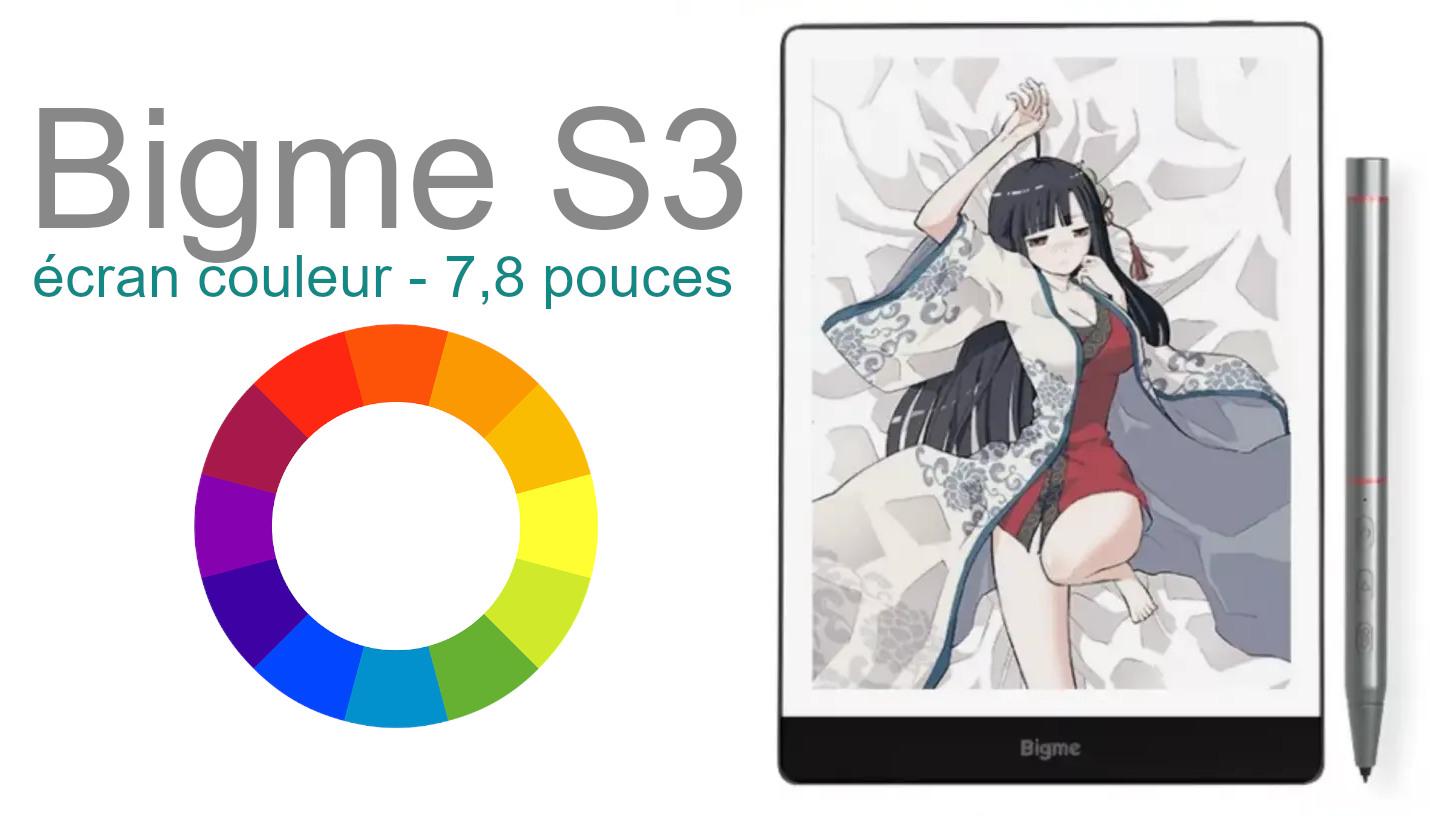 liseuse couleur bigme S3