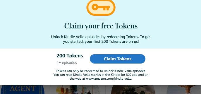 tokens gratuits kindle vella