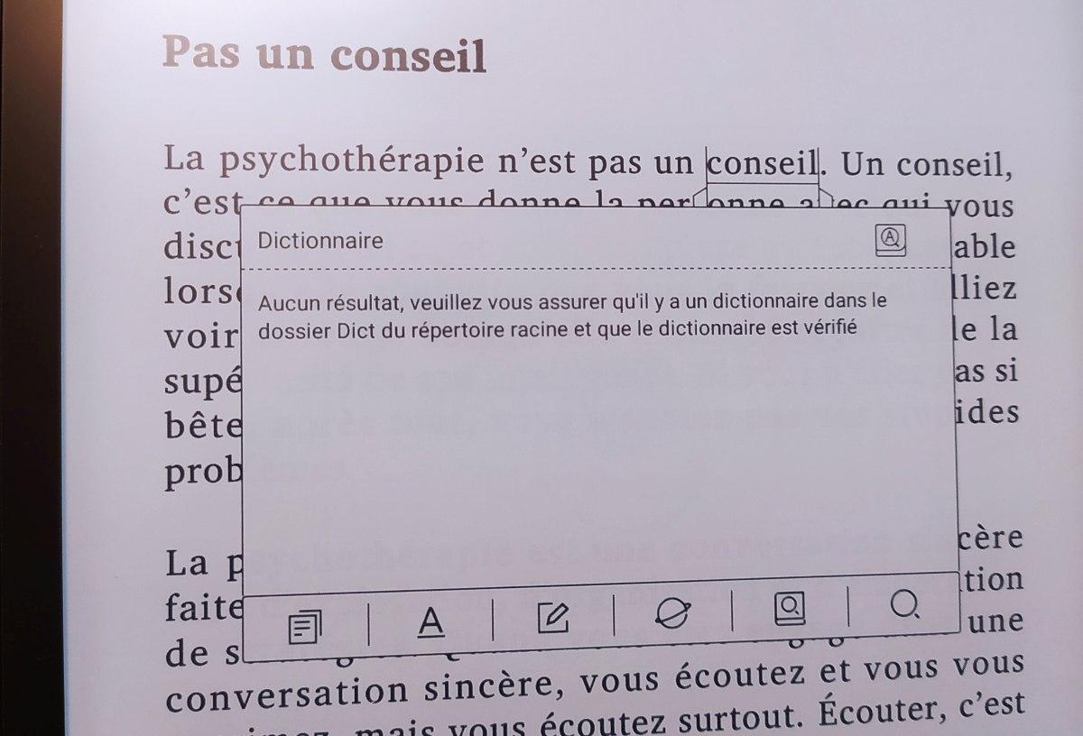 liseuse likebook p10 test dictionnaire