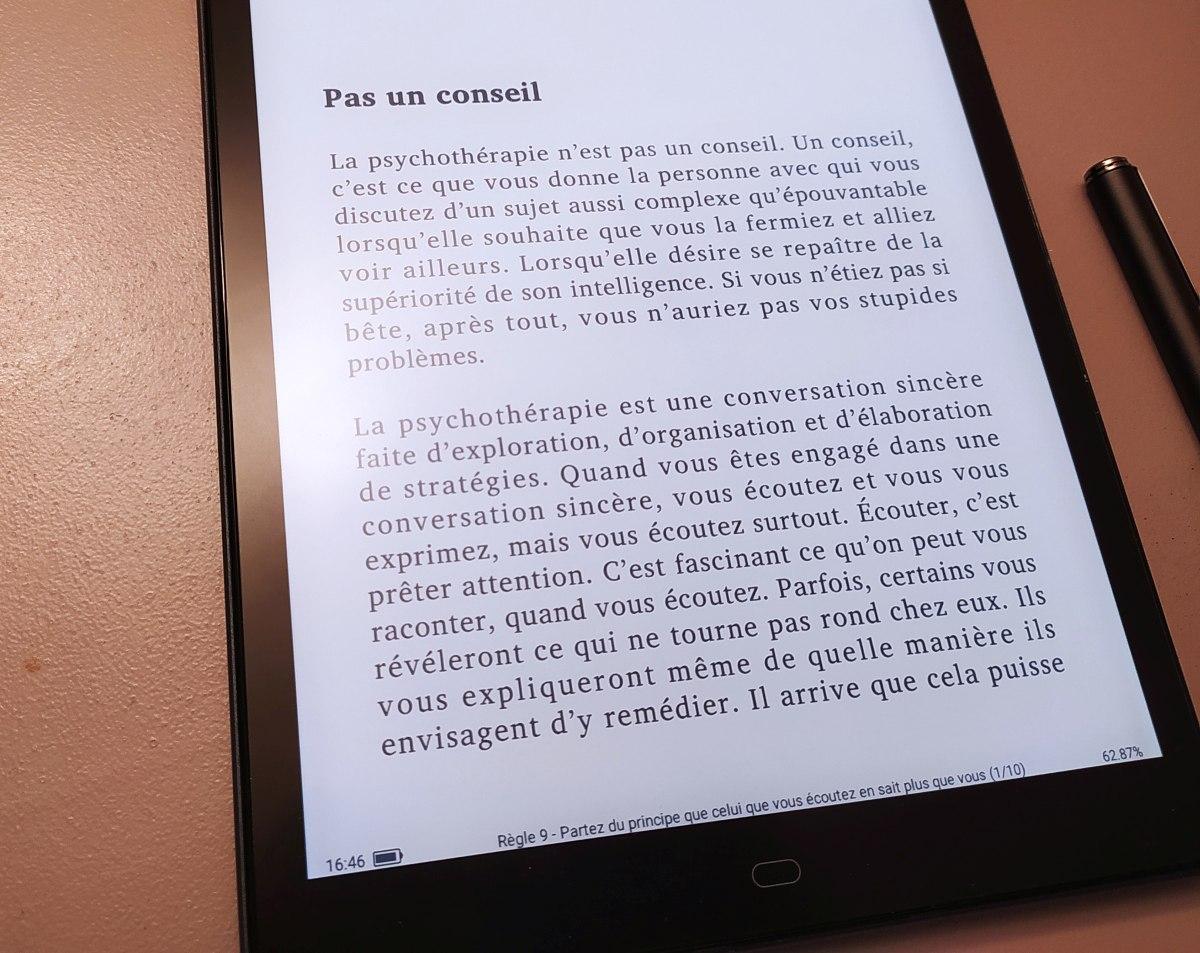 liseuse likebook p10 test lecture ebook