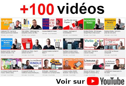 vidéos sur les liseuses et les ebooks