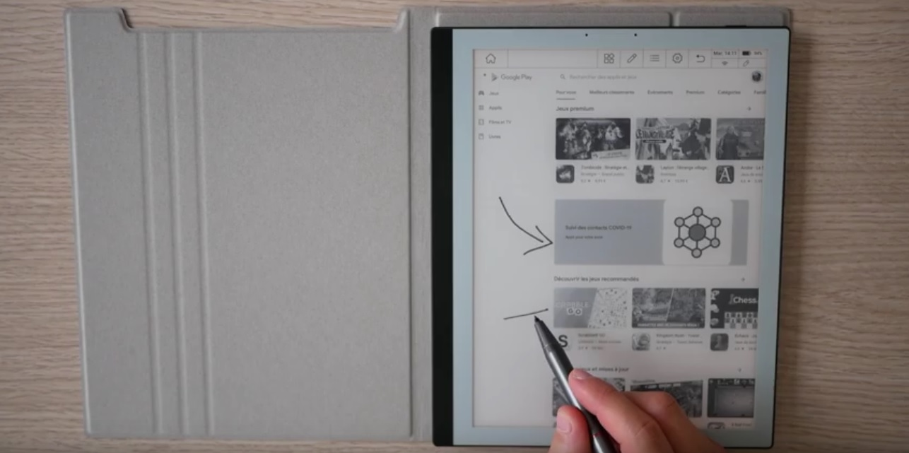 bookeen notéa écriture manuscrite stylet mise à jour