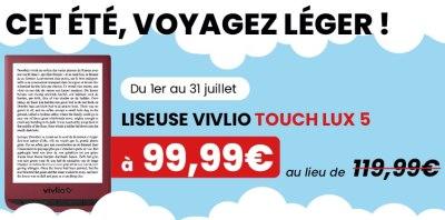 liseuse touch lux 5 de Vivlio en réduction 2021