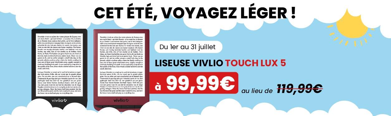 réduction sur la liseuse Vivlio Touch Lux 5