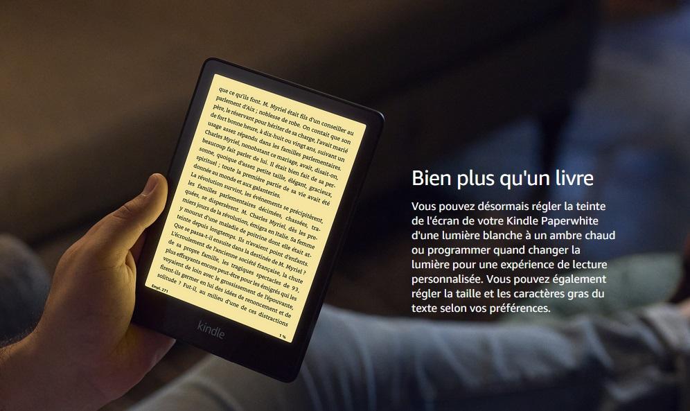 liseuse Kindle Paperwhite 6,8 pouces lumière bleue