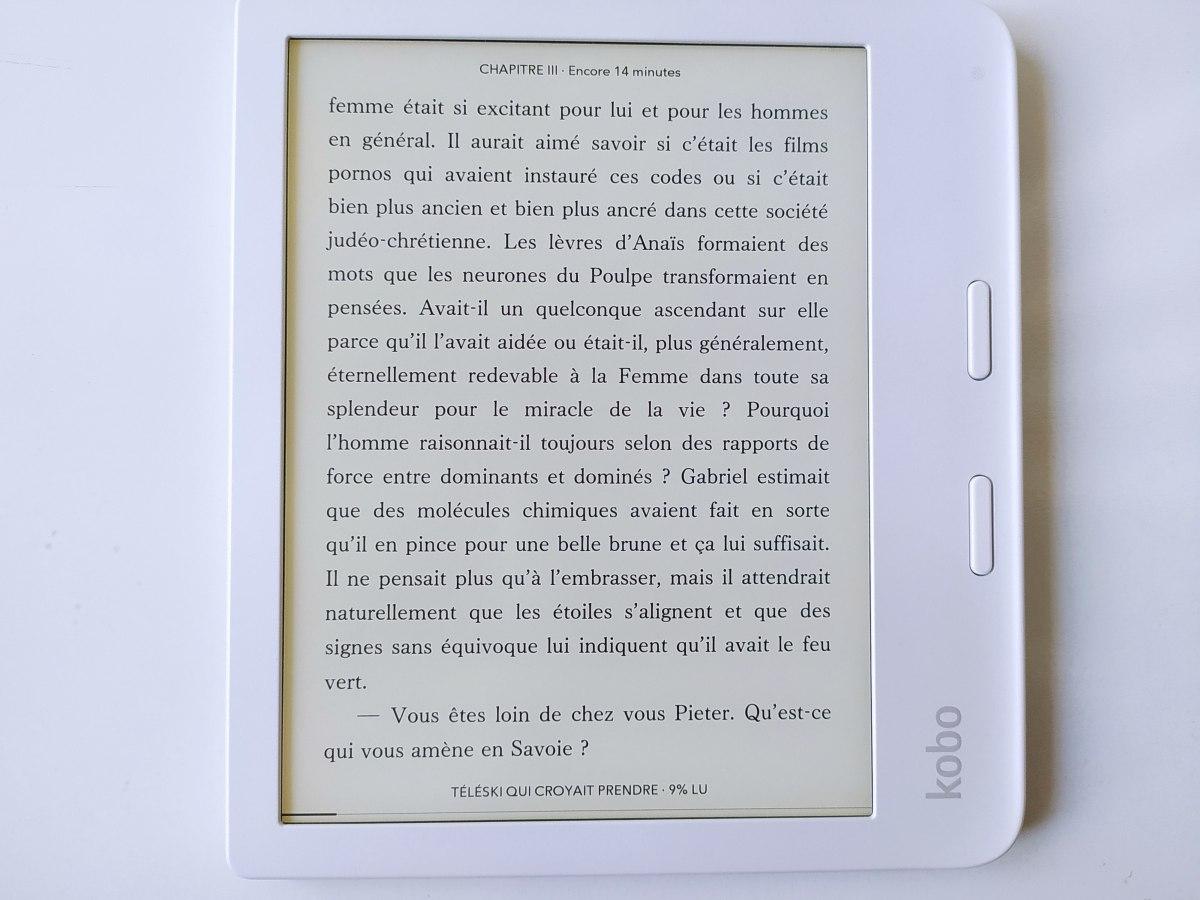 test kobo libra 2 paramètres lecture ebook